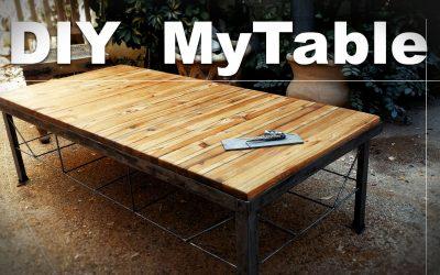 פרק 2 Vlog שולחן שבניתי מעץ ברזל