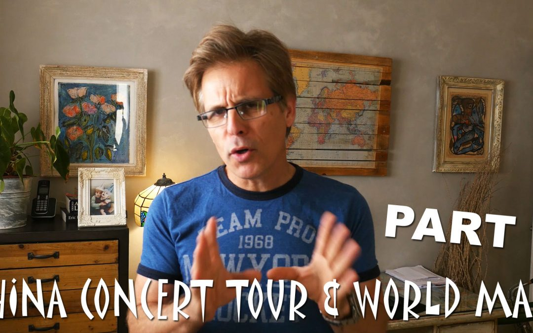 The China concert tour and world map Vlog4# PART1