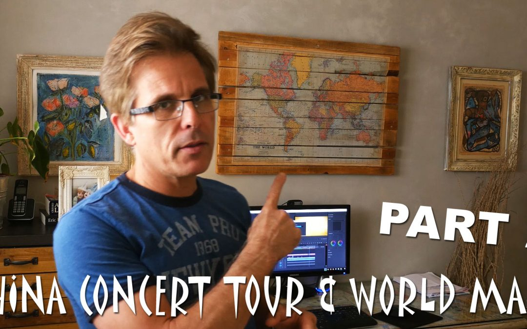 The China concert tour and world map Vlog4# PART2