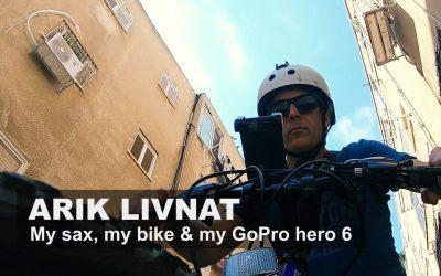 My sax, my bike & my GoPro hero 6