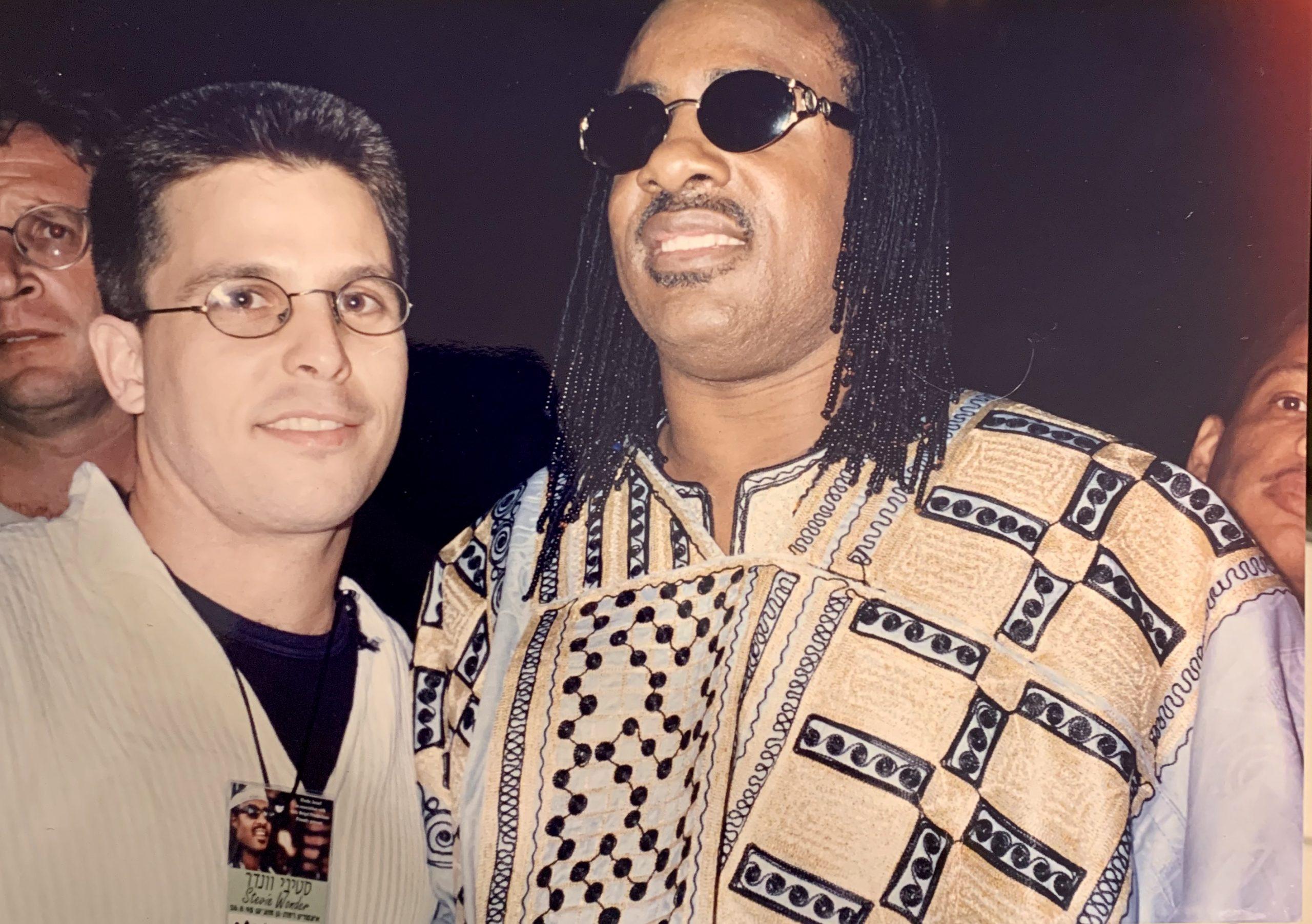 Stevie Wonder & saxophonist Arik Livnat