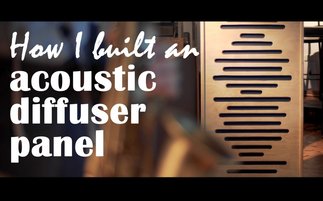 How I built an acoustic diffuser panel