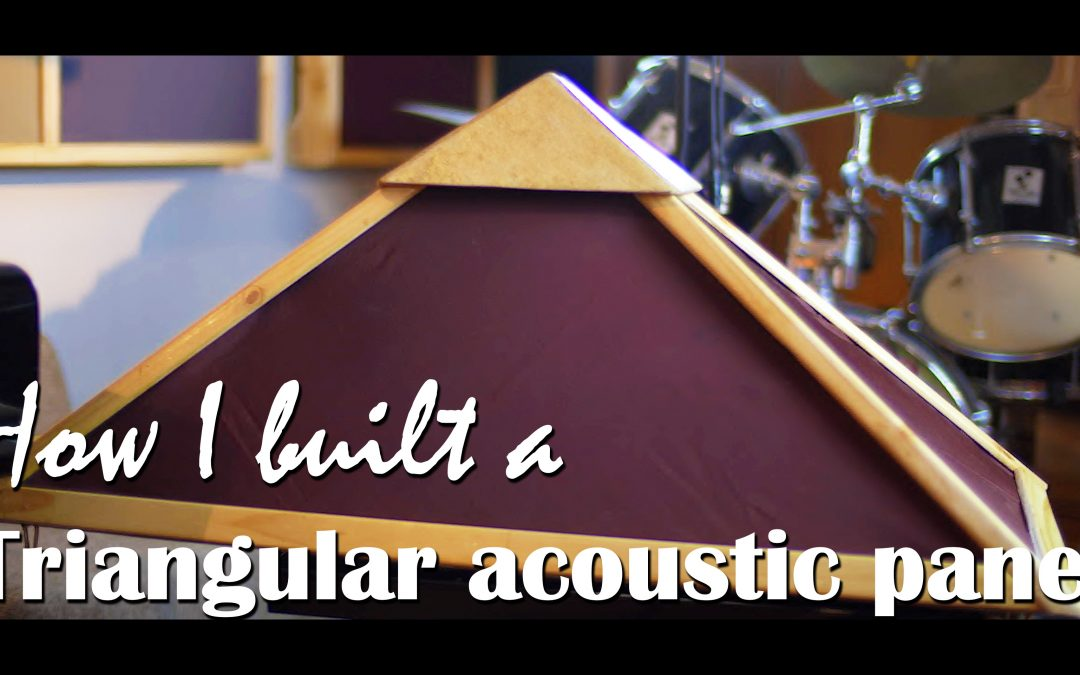 How I built an acoustic panel triangular