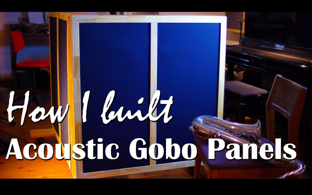 How I built Acoustic Gobo Panels step by step